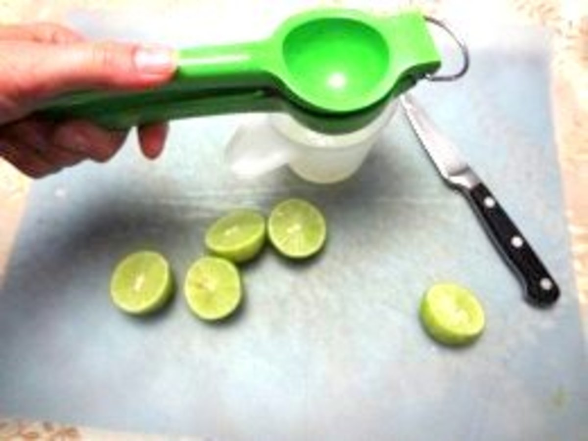 Juice limes with a squeezer