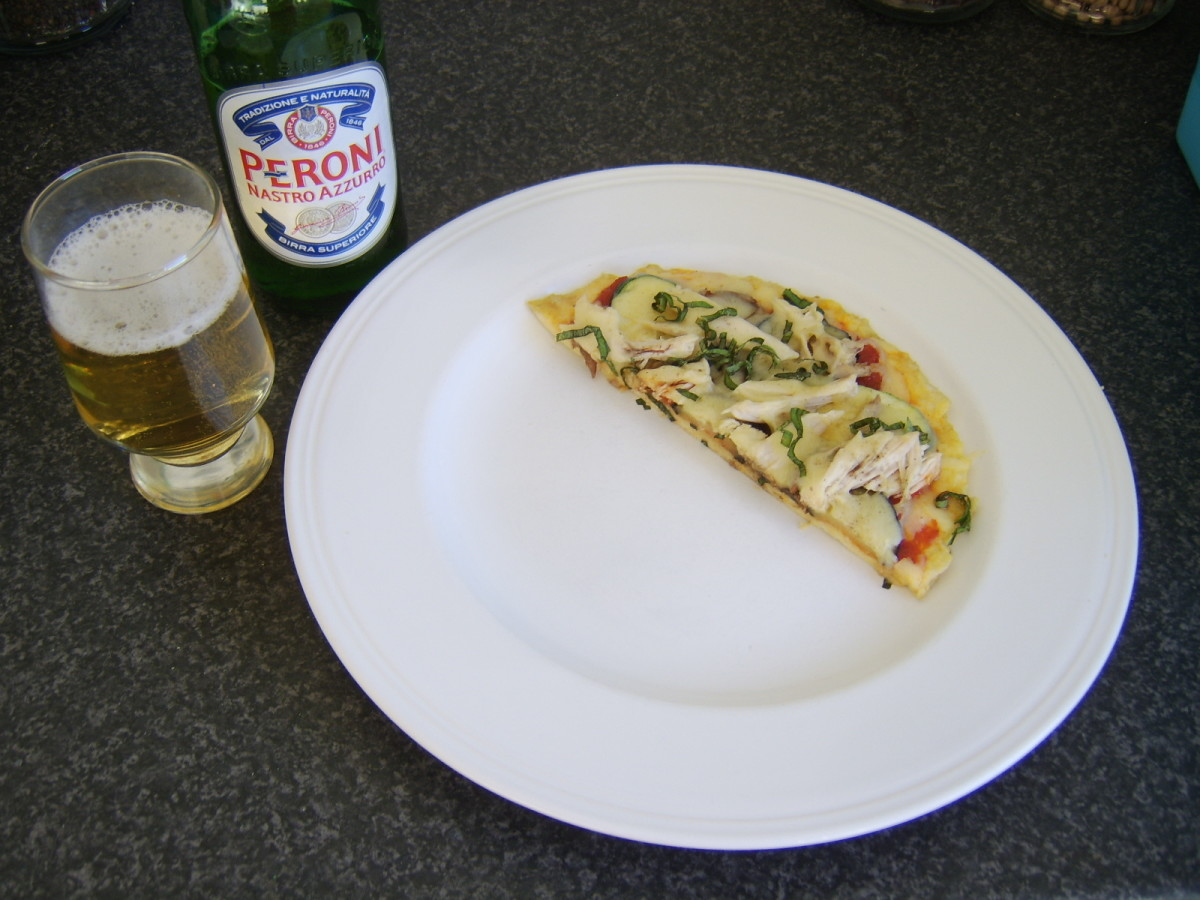 An Italian beer is the perfect accompaniment to a Taste of the Med pizza