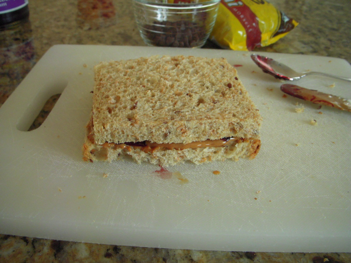 Place bread together with spread in between
