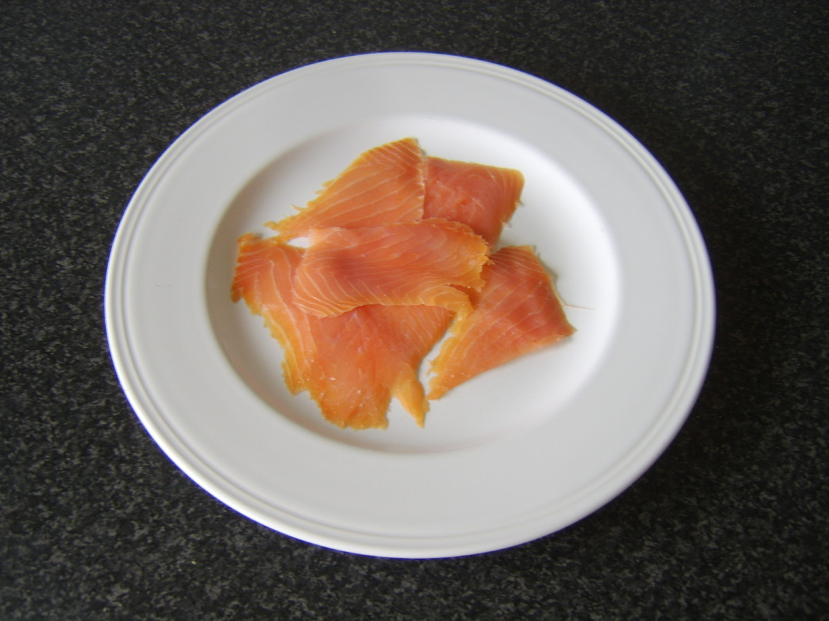 Scottish beech-smoked salmon.