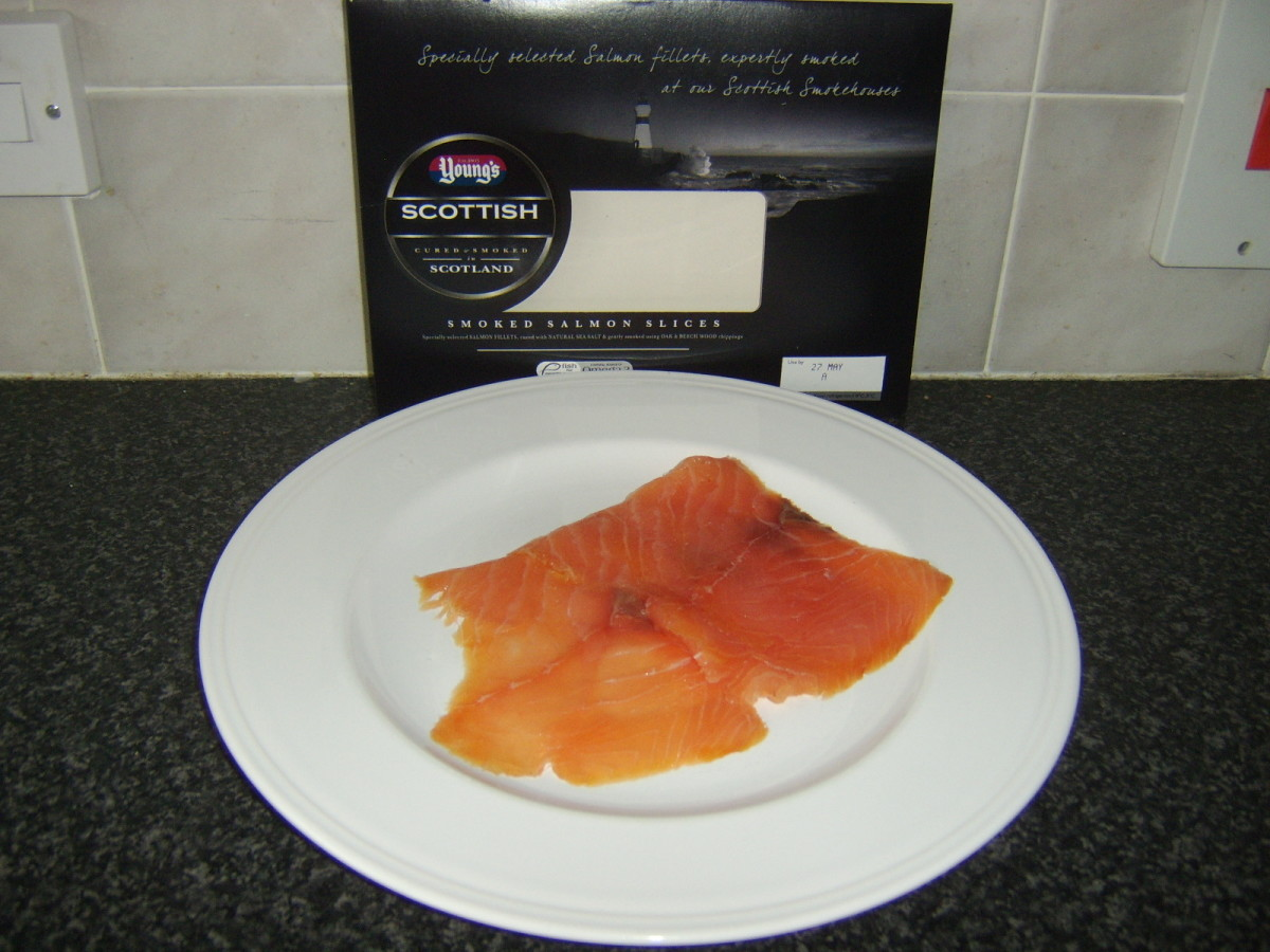Oak and beech smoked salmon