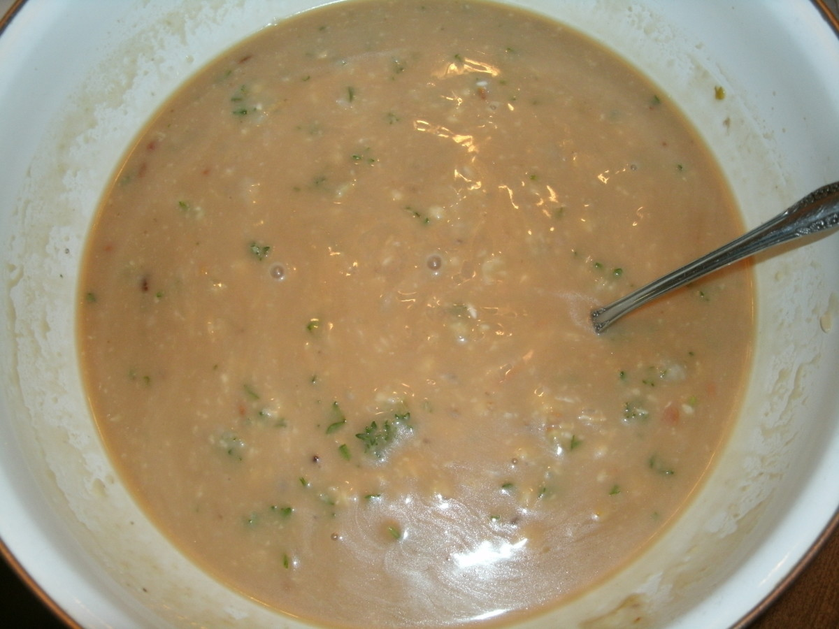 Rice and soup mixture