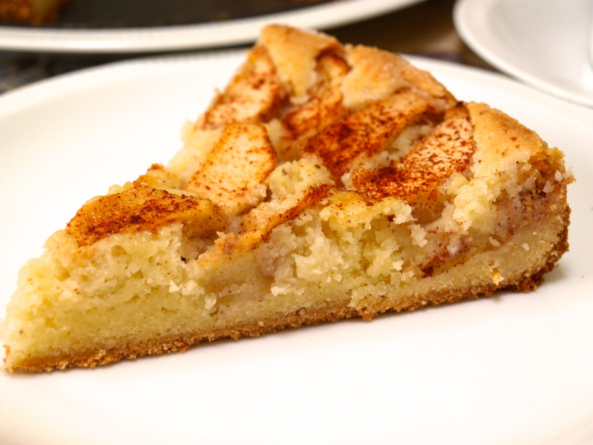slice of this german apple cake and a cup of tea make for a perfect ...