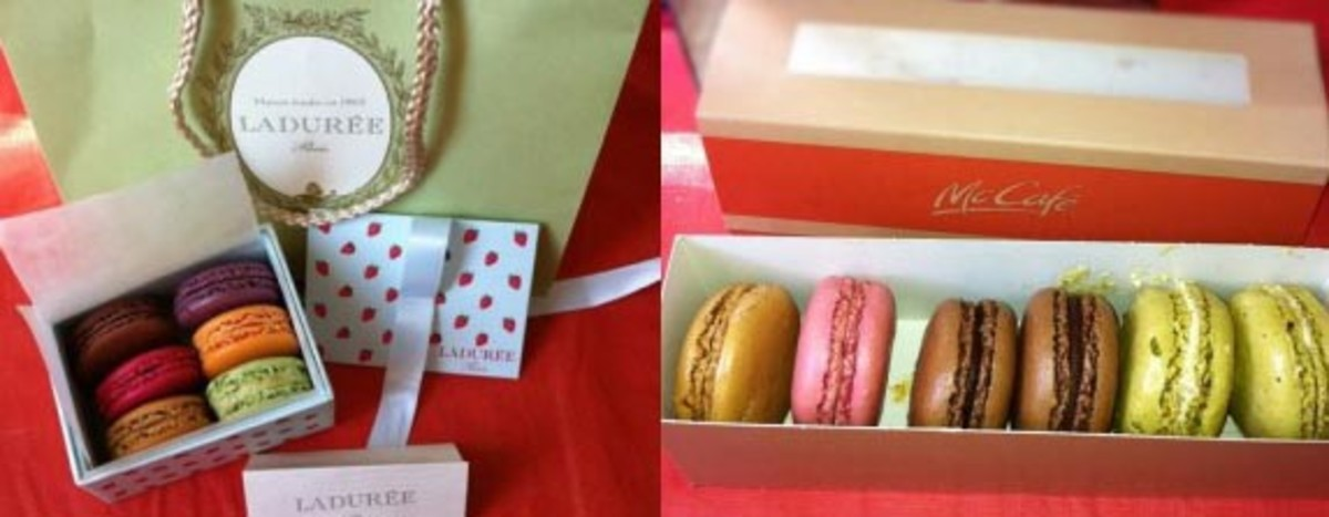 Ladurée (left),  McDonald's (right): The ultimate pastel pastry face-off.