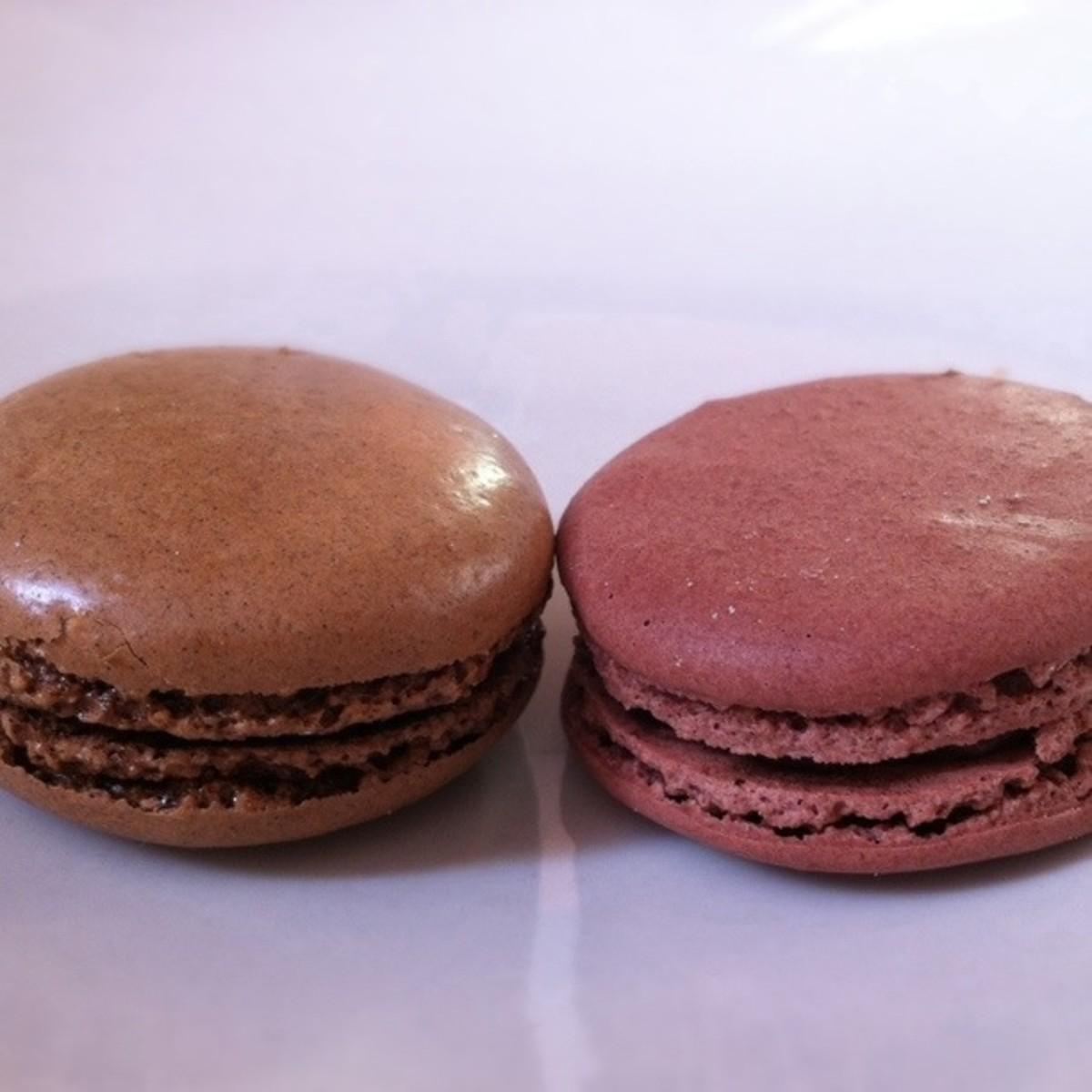 CHOCOLATE    (L – McMacaron, R - Ladurée)