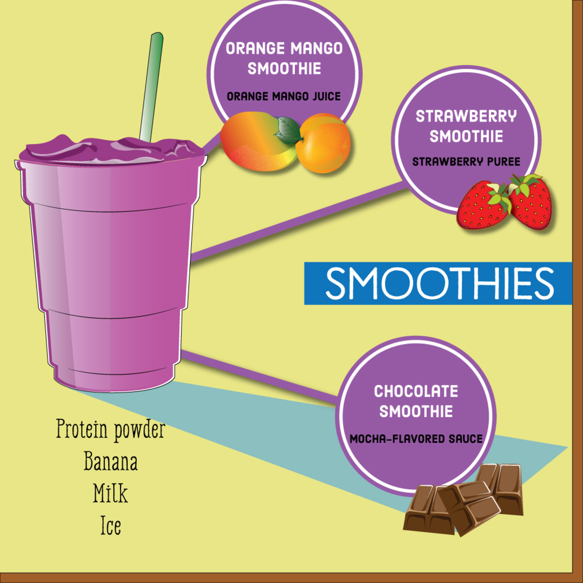 Smoothies are another delicious coffee-free drink option.