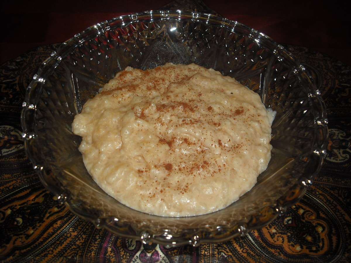 Fresh from the crockpot at 4 a.m.—piping hot rice pudding!