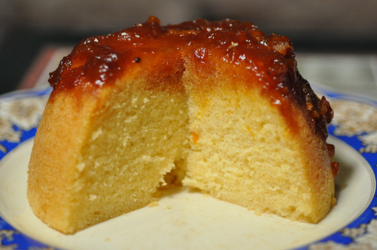 Sectinn of Steamed Cumquat Marmalade Pudding. Image: © Siu Ling Hui