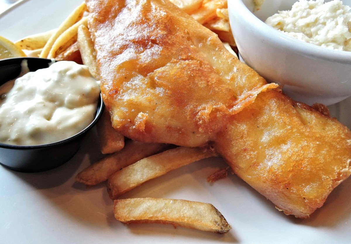 Fish and Chips. This remains a favorite meal to serve with the original sauce or any of its variations.