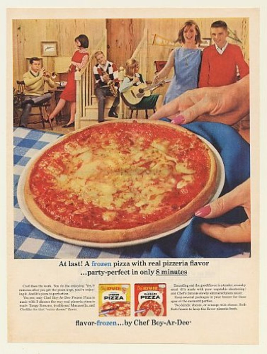 I last saw one of these on the grocery store self around the early 1980s. It was not yet a frozen pizza, but a dough mix with sauce and grated cheese.