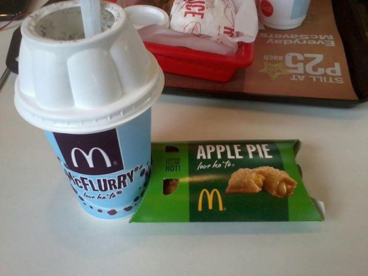 Apple Pie McFlurry- Secret Menu item at McDonald's!