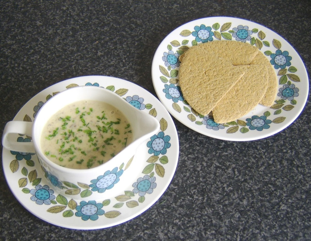 Cream of haggis and clapshot soup with oatcakes