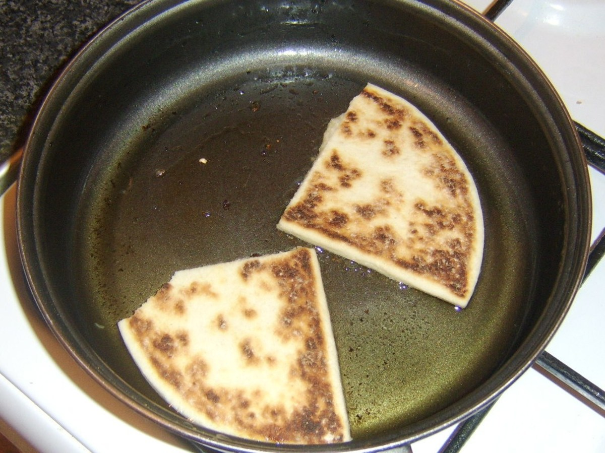 Tattie scones are fried in meat juices