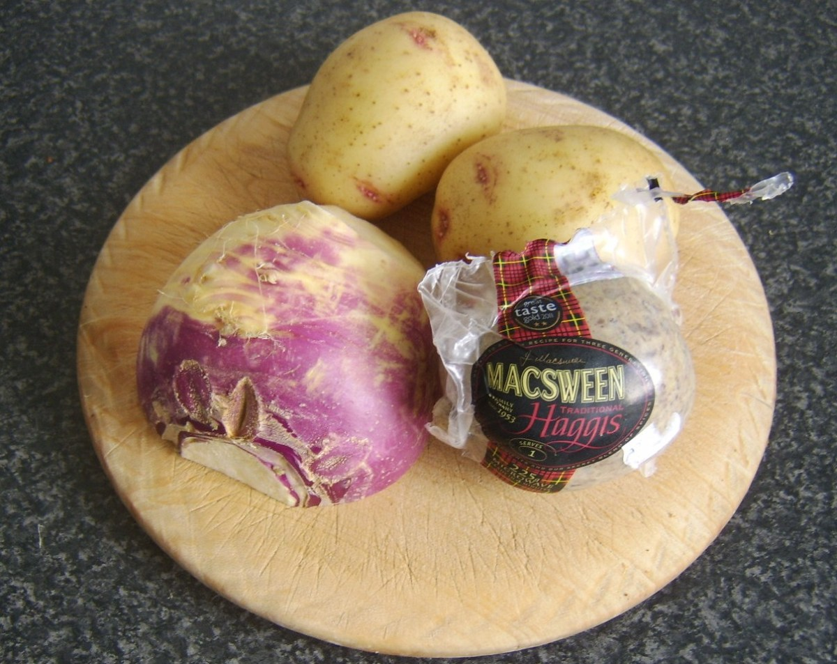 Haggis, tatties and neeps for soup