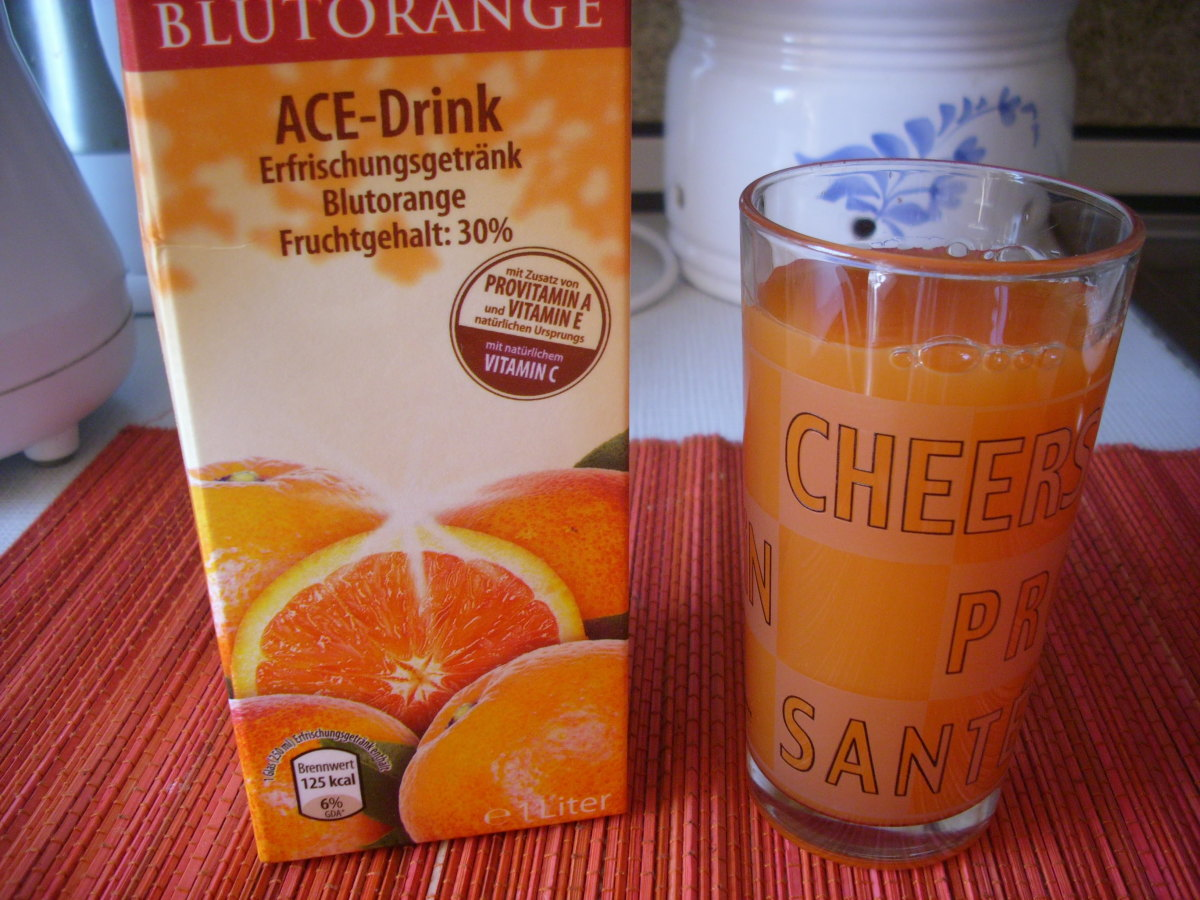 Orange juice with Vitamins ACE