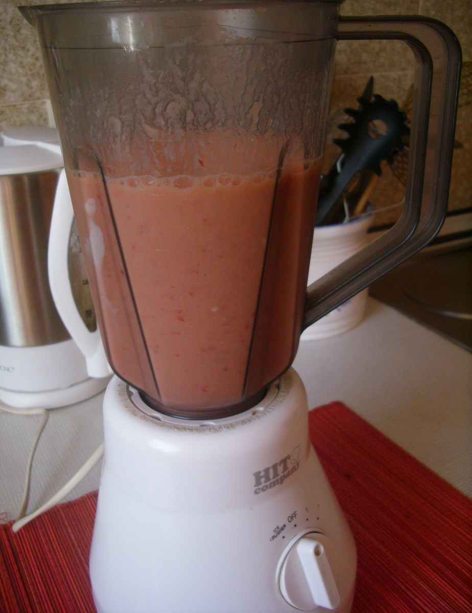 Blended fruit mix.