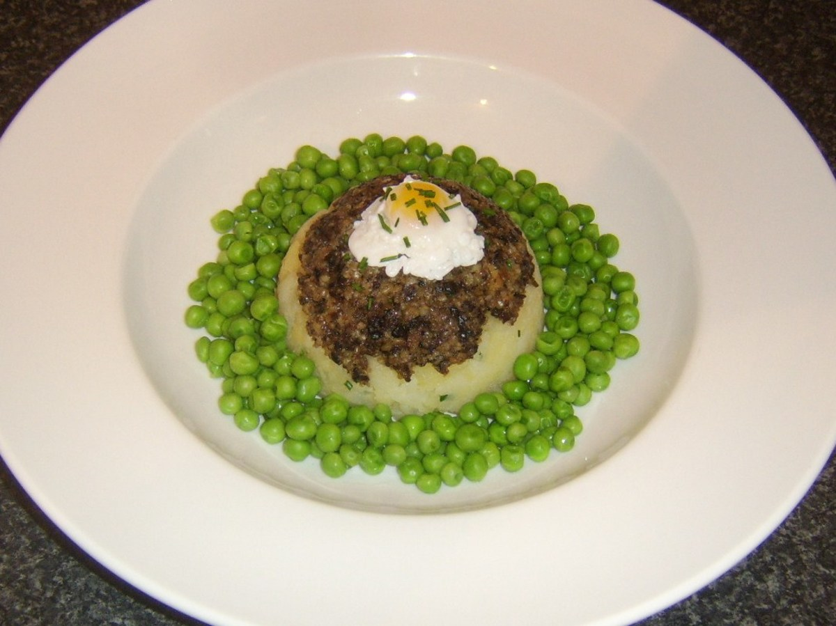 Haggis and clapshot are Scottish classics and a poached Scottish quail egg on top makes a wonderfully tasty and attractive garnish