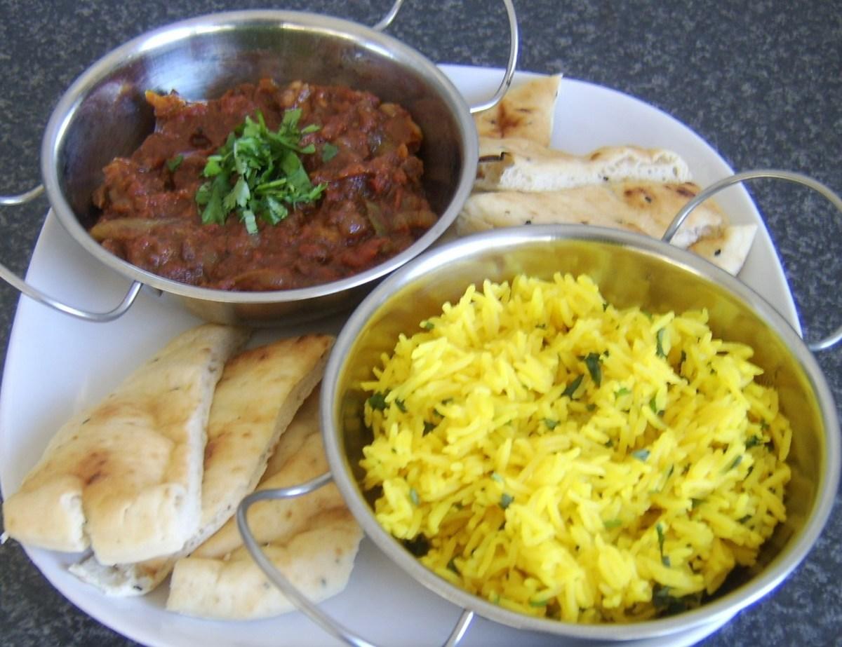 Bhuna lamb with fragrant rice