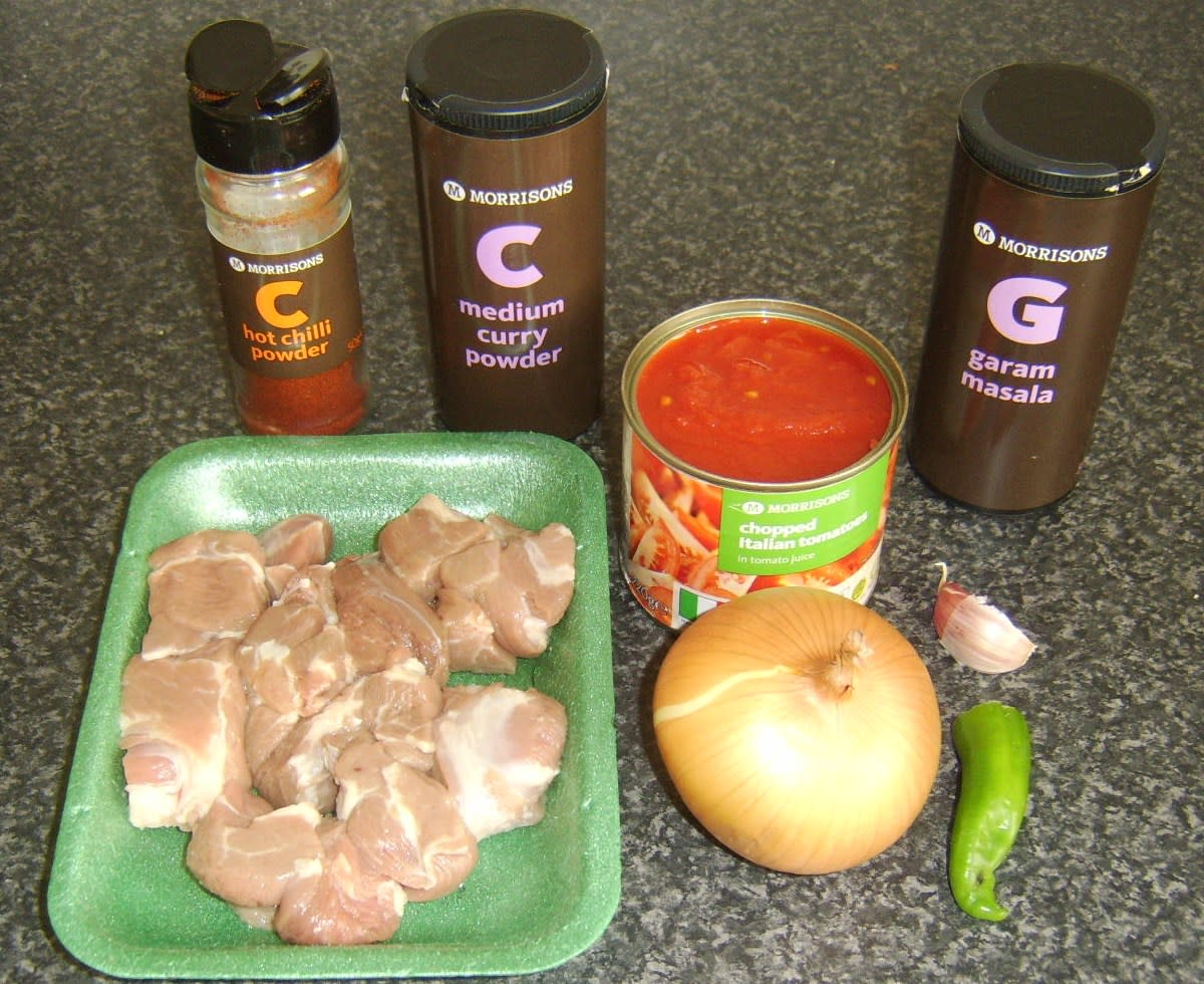 Bhuna Lamb Ingredients
