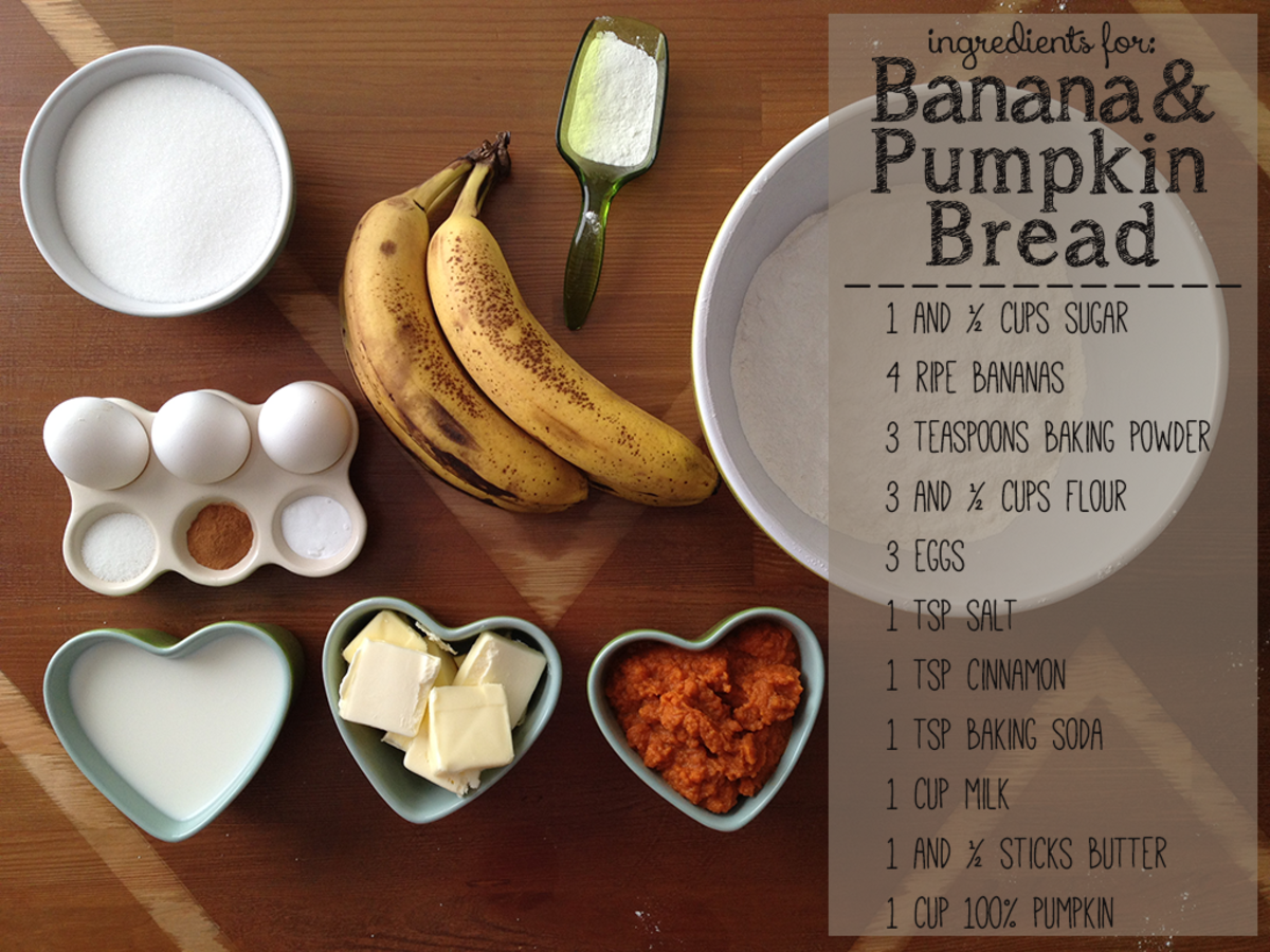 Banana Bread Baking Recipe