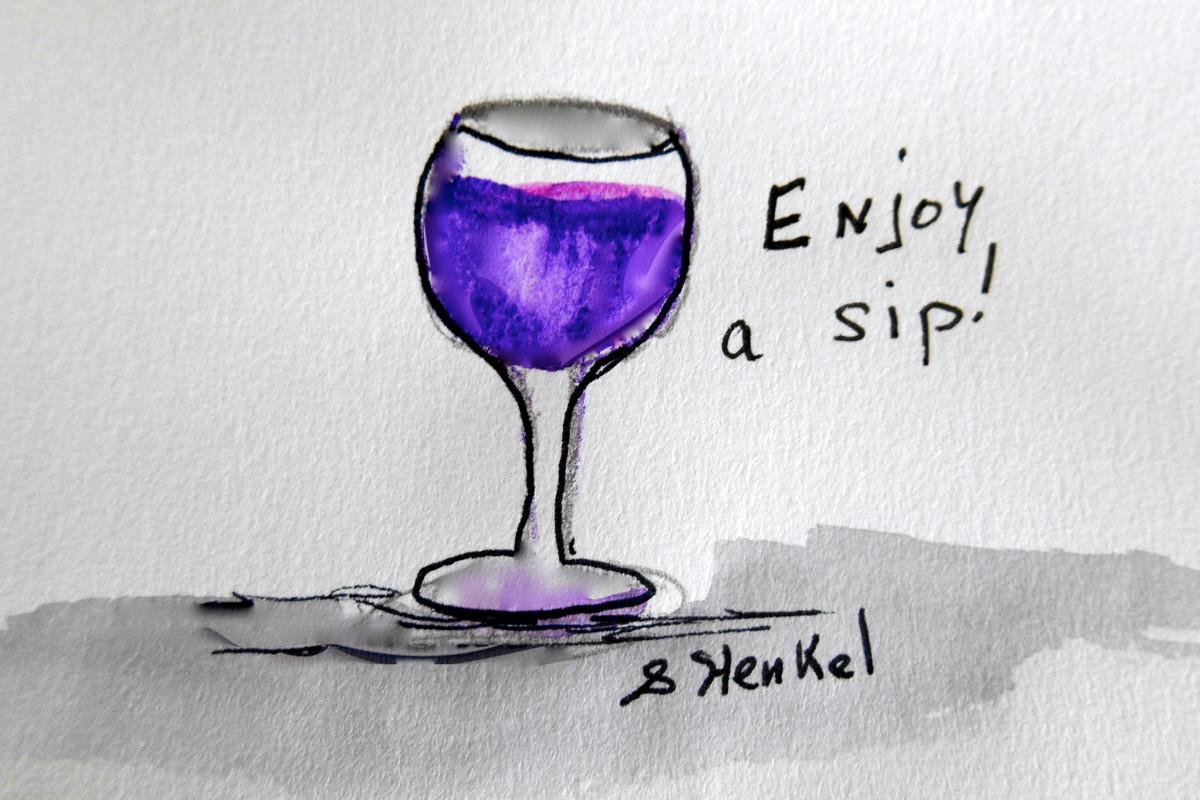 Enjoy a sip! Enjoy your homemade Blackberry Brandy!