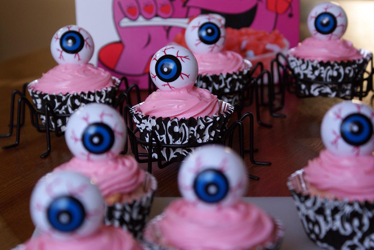 Eyeball decorations.