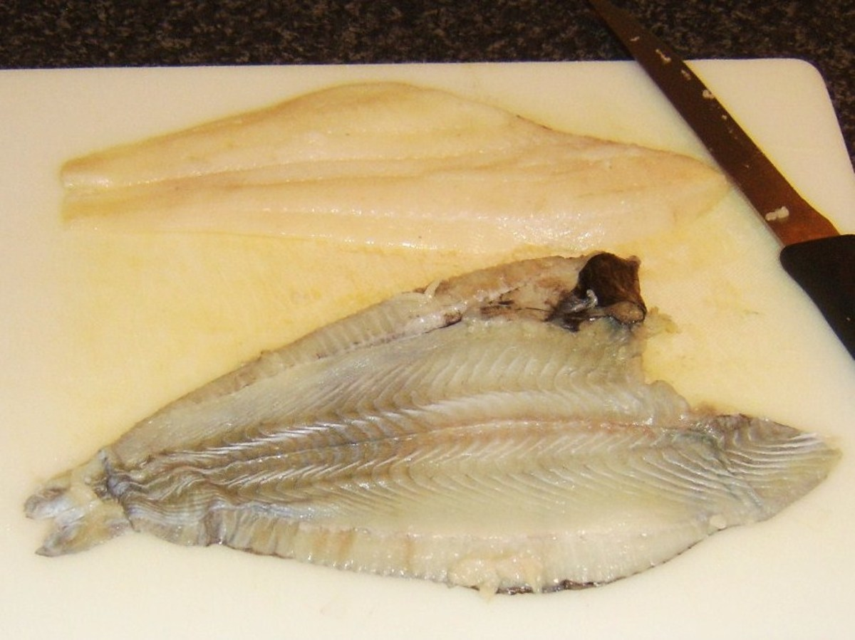 Skinned plaice fillet