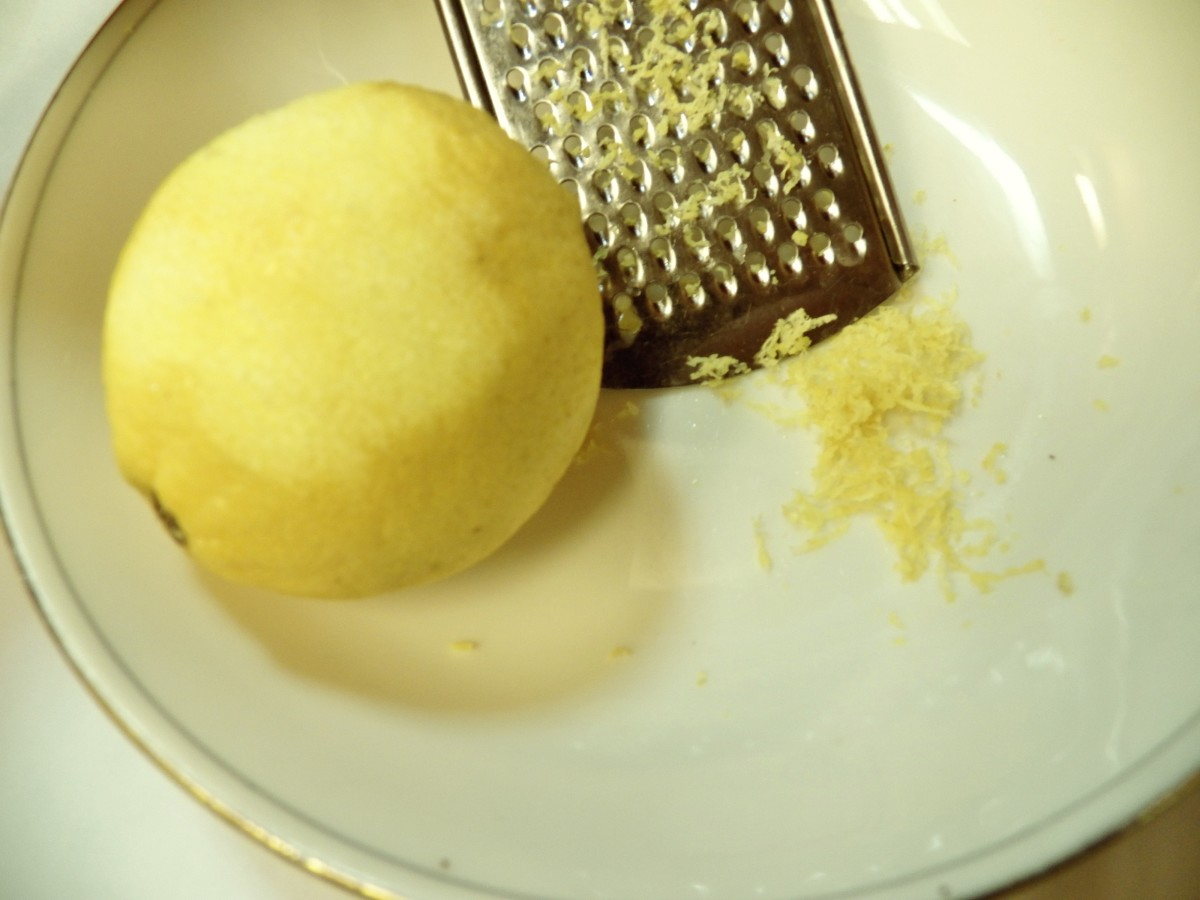 Grated lemon