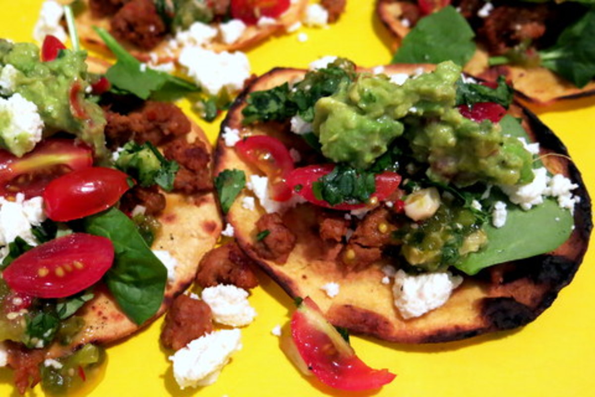 Healthy & Easy Mexican Tostadas