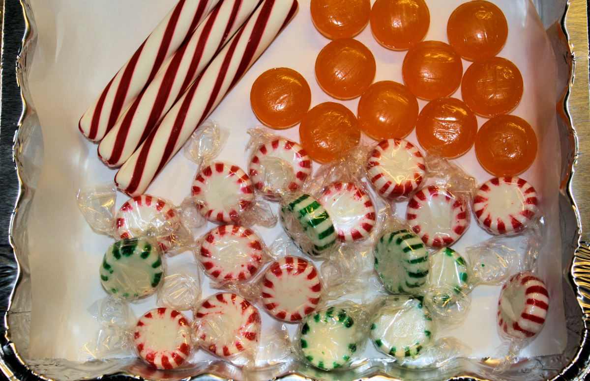 Ingredients for an edible hard candy tray