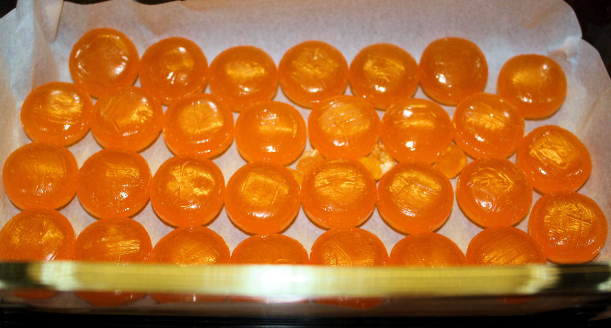 Butterscotch Candies Ready for the Oven.