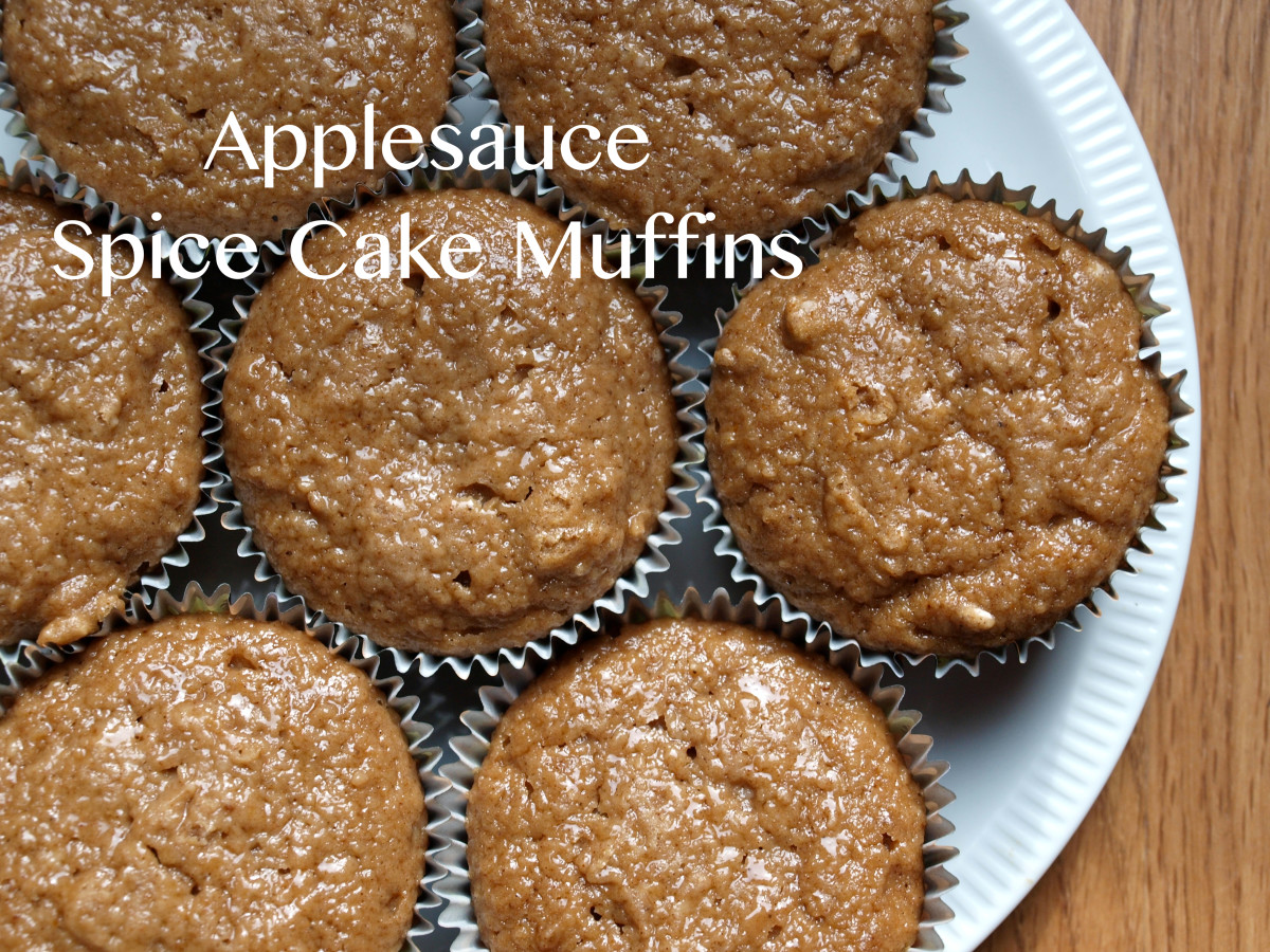 Make tasty breakfast muffins with a boxed spice cake mix and some applesauce.