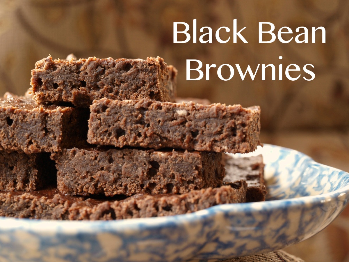An undrained can of black beans and a box of brownie mix make this yummy treat!