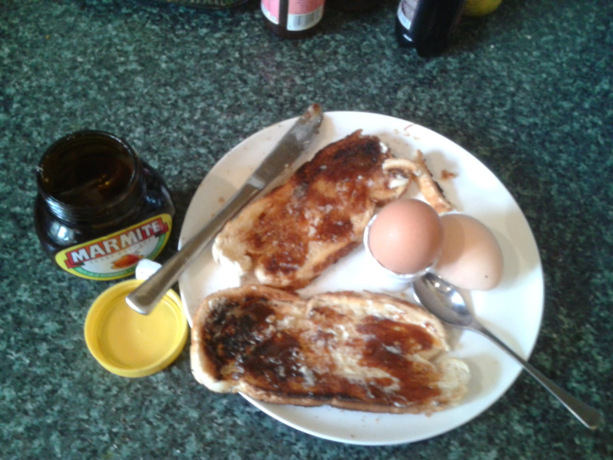 This is my favorite breakfast: boiled egg and Marmite on toast