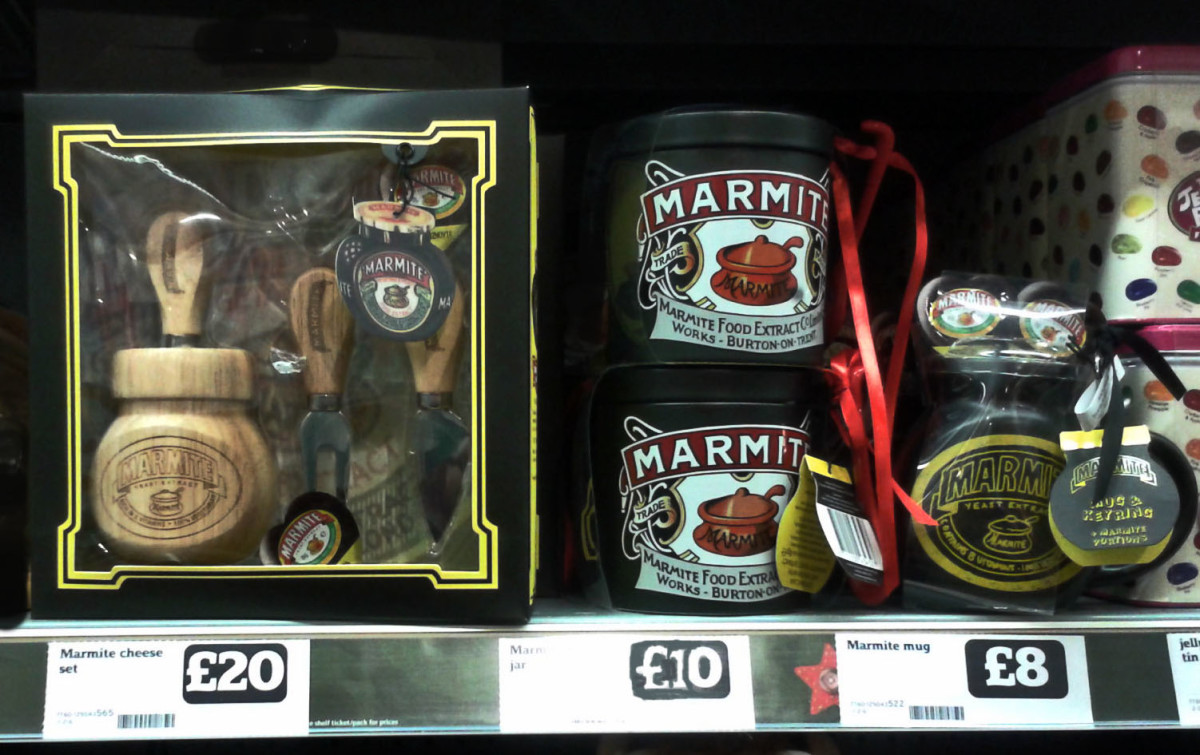 I must have had a premonition, because I took this photo of Marmite XO in a local London store a year ago - the  value has increased nine-fold!