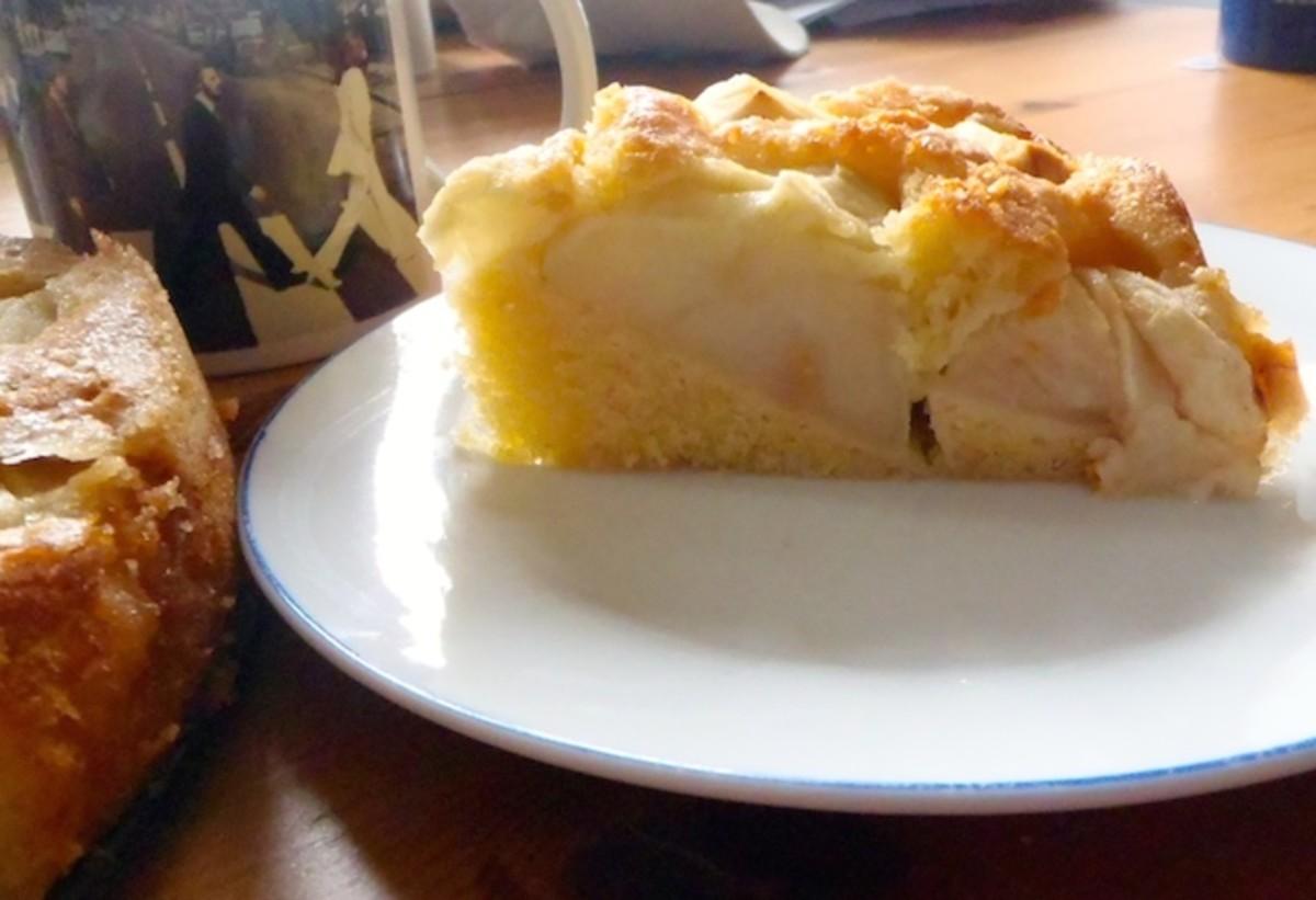 German sunken apple cake recipe
