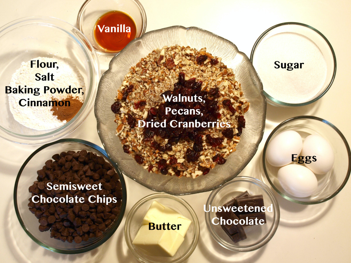 Ingredients for the cookies.