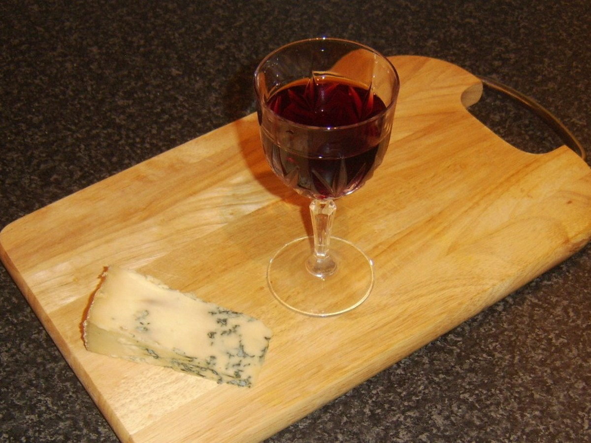 Ruby port and Stilton cheese