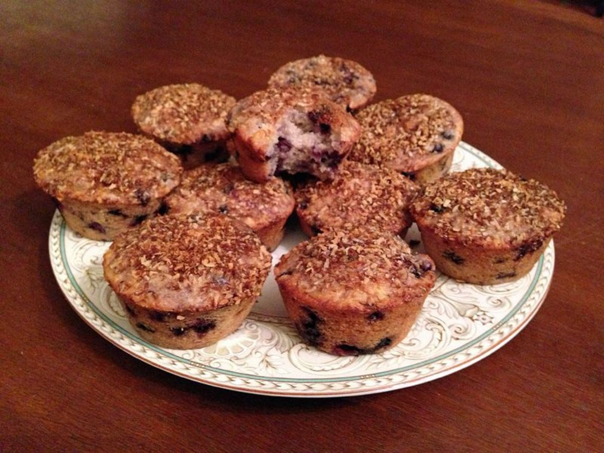 Triple-Coconut Lime Blueberry Muffins fresh from the oven taste and smell delicious - and they're also vegan and nutritious!