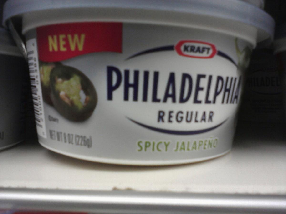 Tub of Philadelphia Spicy Jalapeno Cream Cheese
