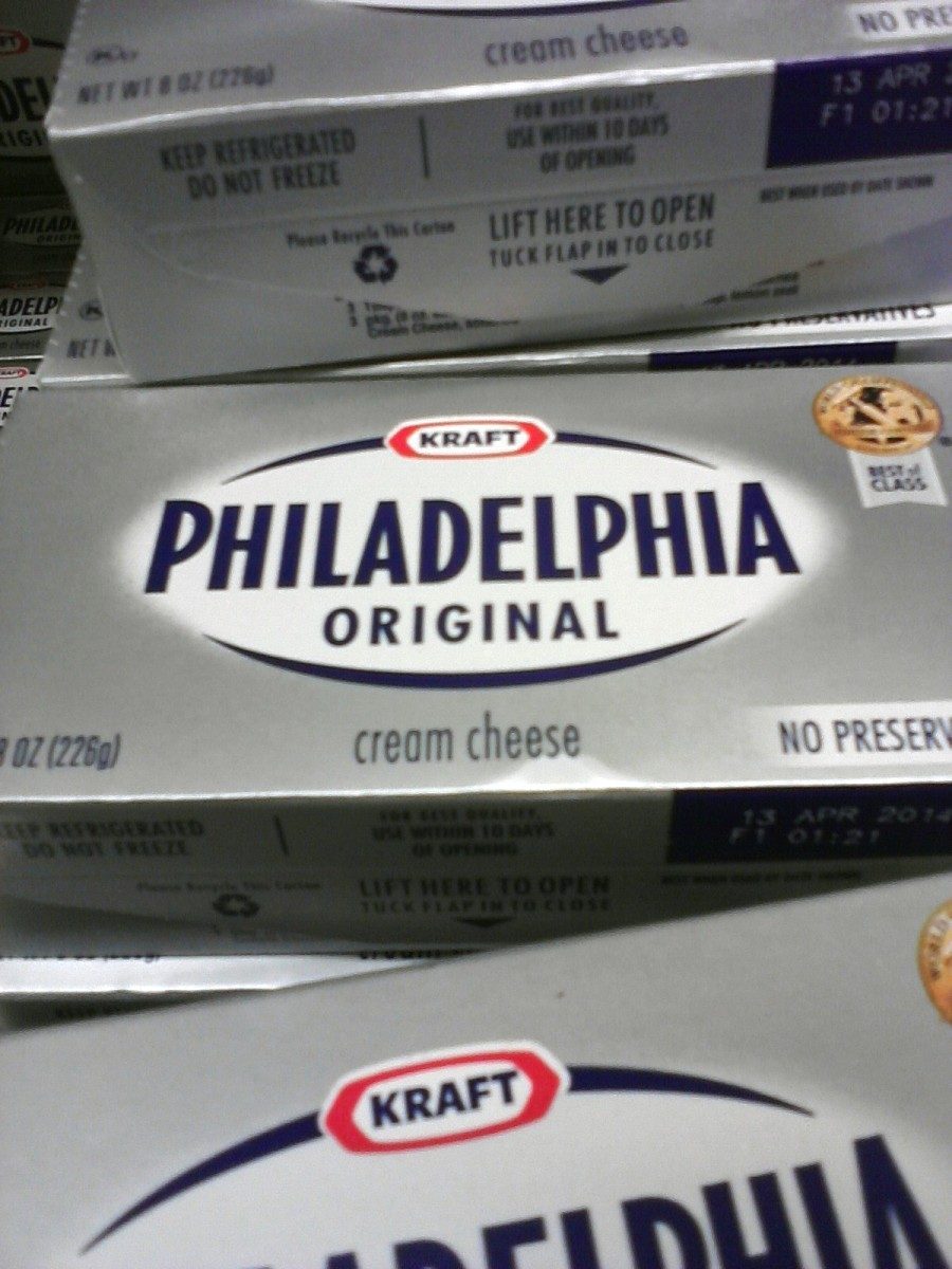 Packaging of Philadelphia Original Cream Cheese