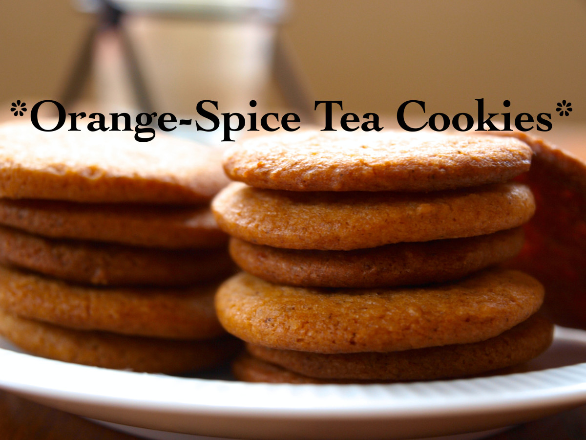These delicious orange-spice tea cookies are perfect any time of the day.