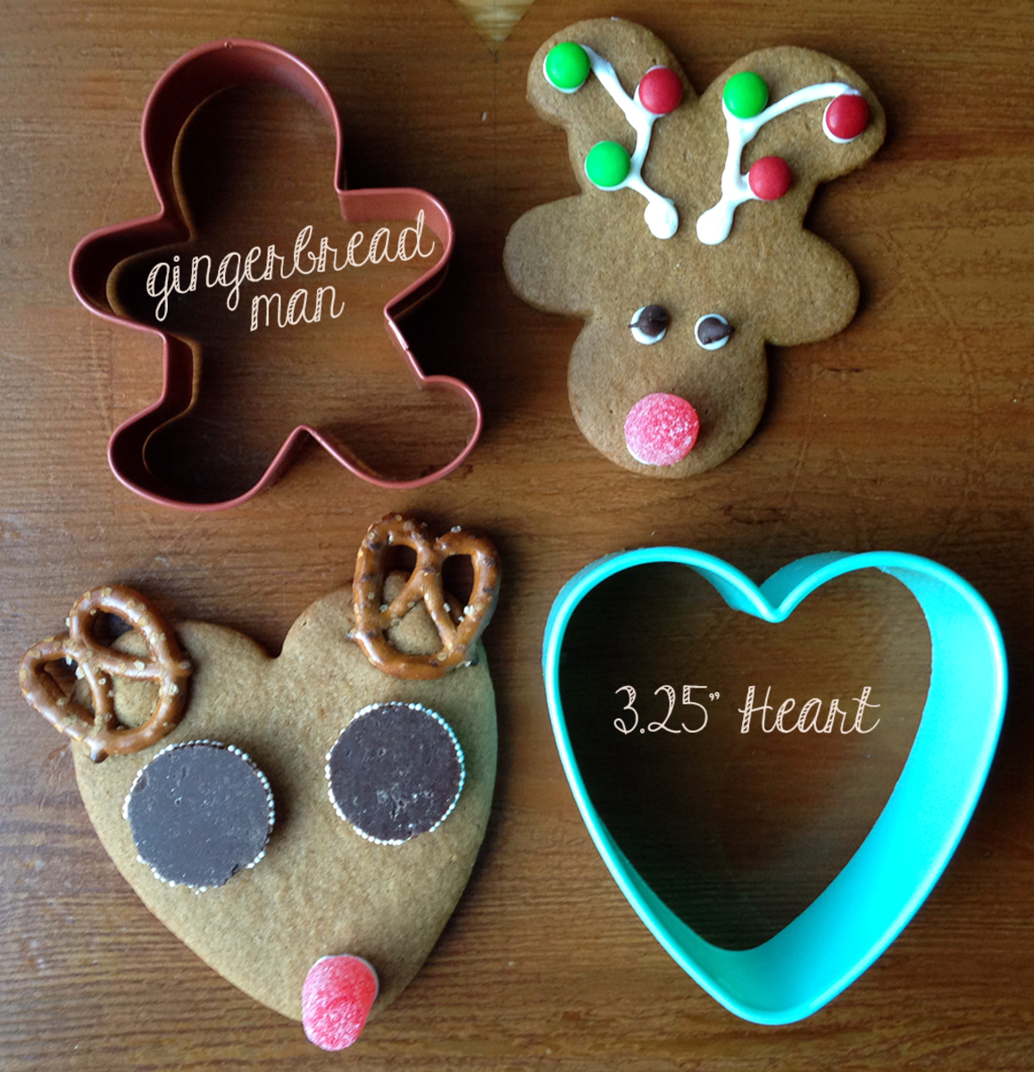 How to Make Reindeer Christmas Cookies With Cookie Cutters You Already Have