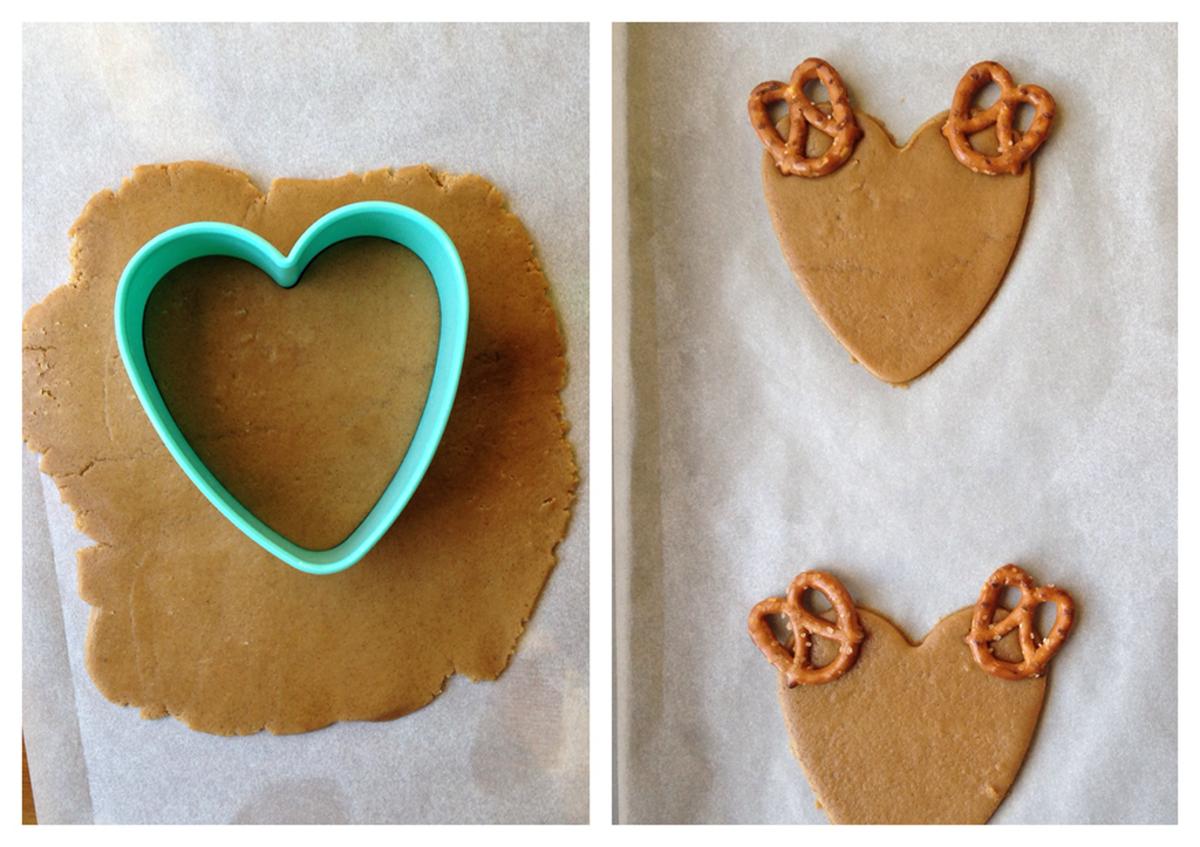 Reindeer Cookies Pretzel Antlers