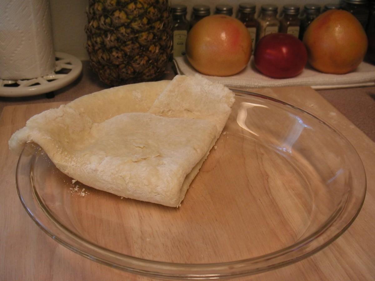 Carefully unfold the dough