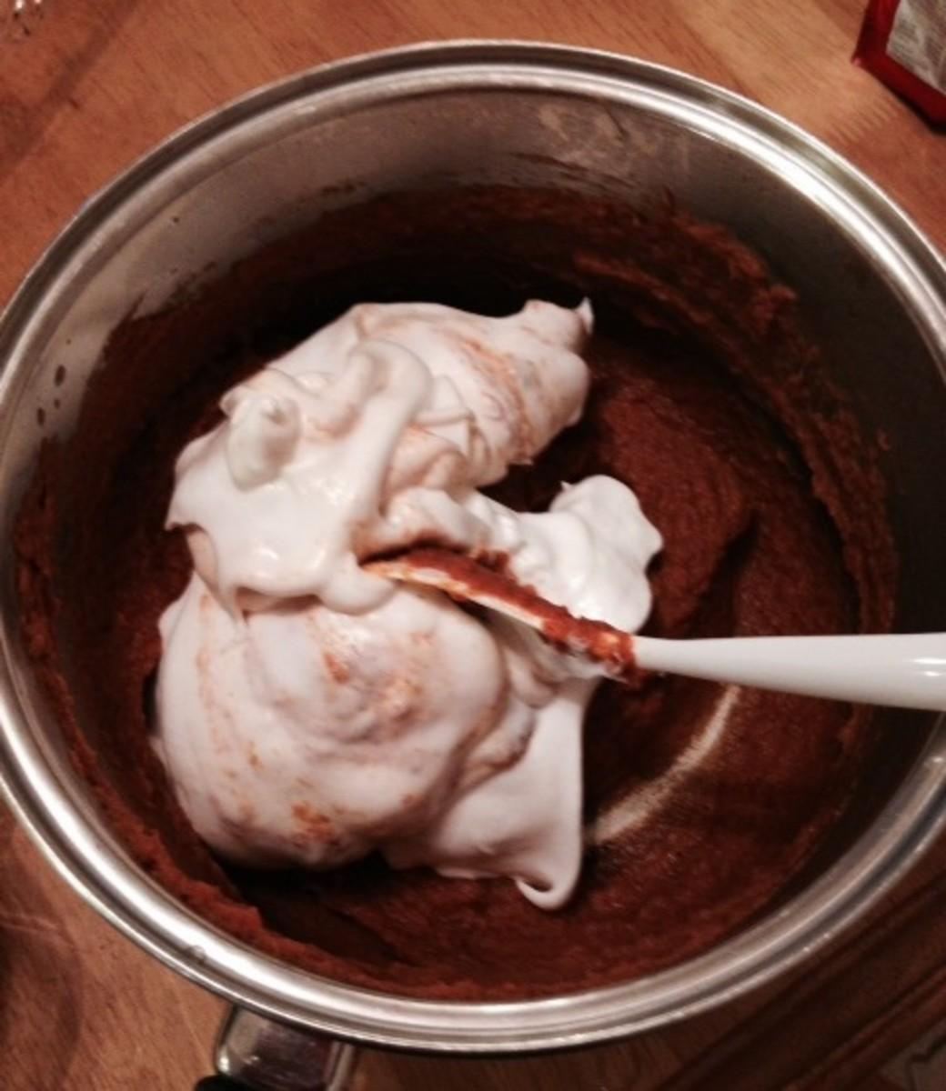Steps 4 - fold into pumpkin mixture