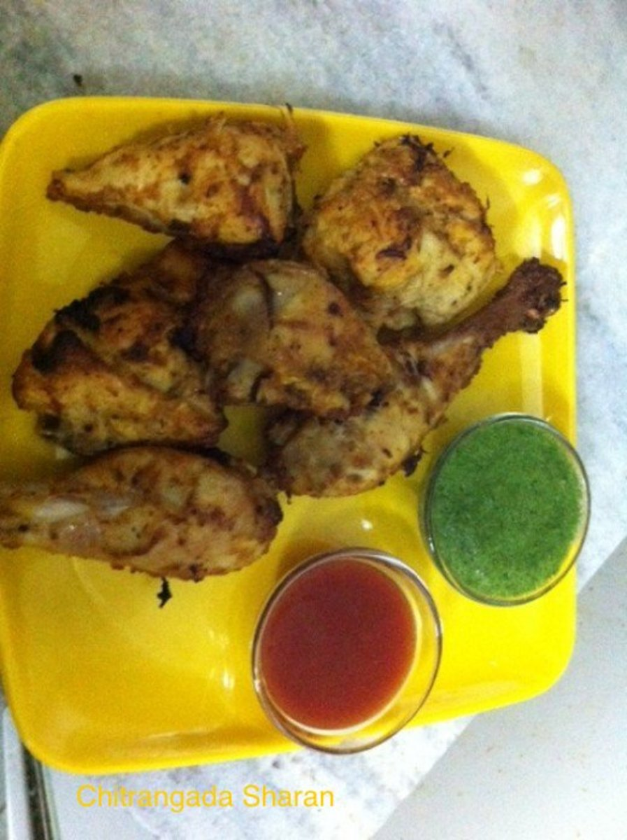 The finished recipe of grilled chicken--Yummy!