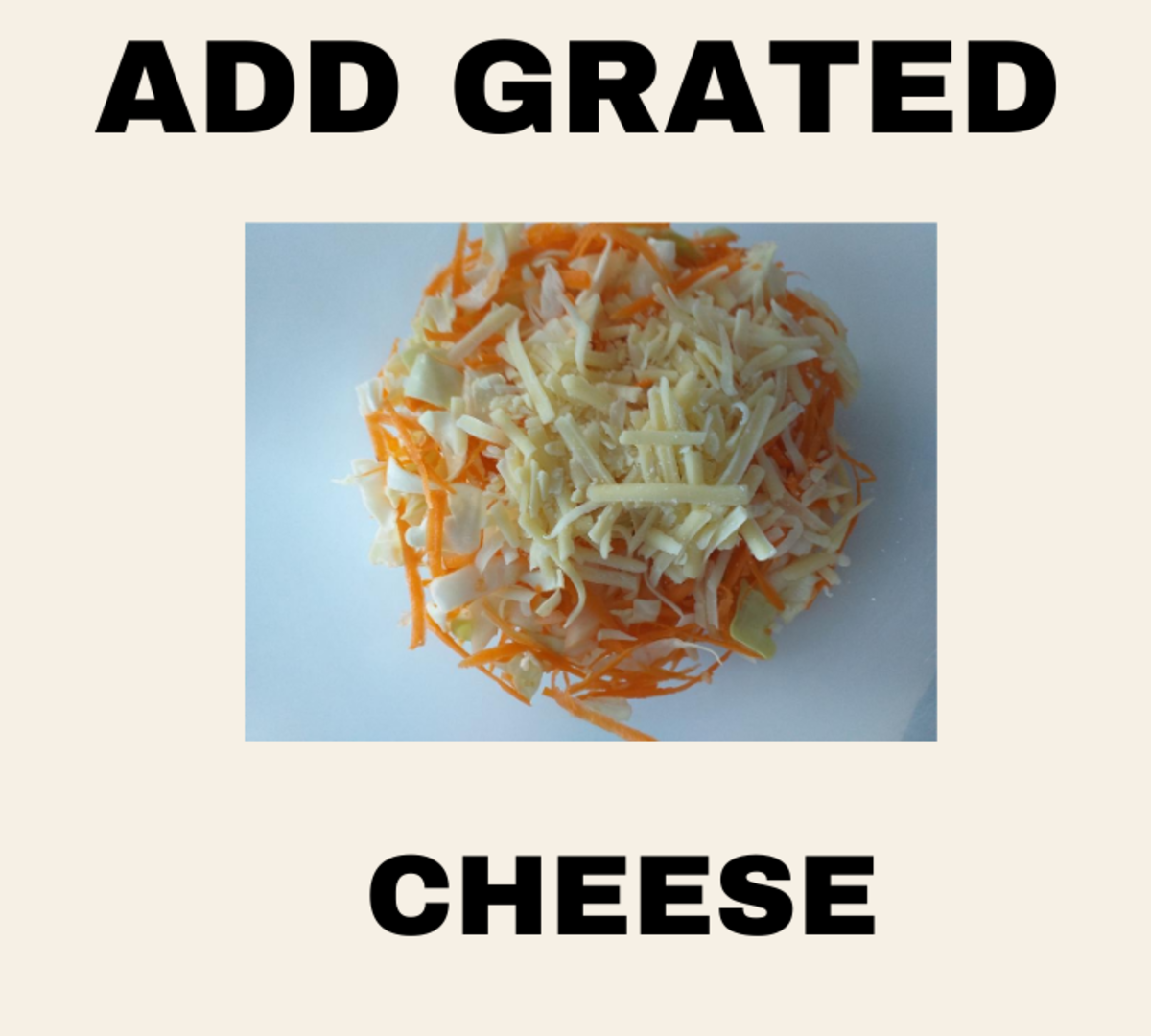 Add grated cheese.