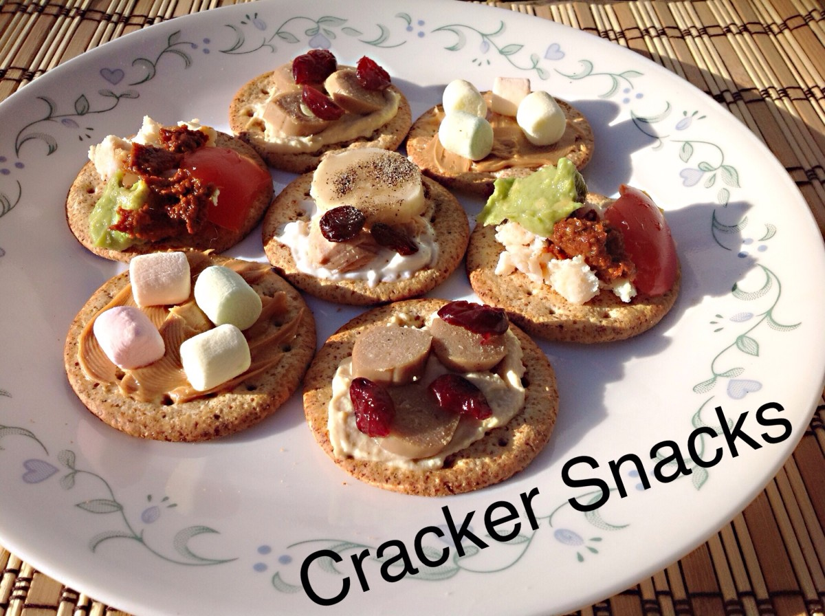 Cracker snacks are fun to create.