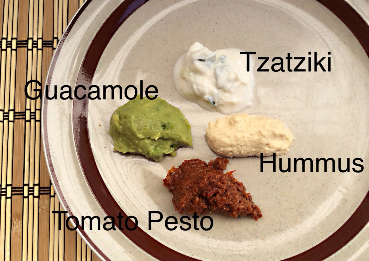Sauces, dips, and spreads work well in cracker toppings.